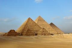 Egyptian pyramids. Egyptian giza three pyramids panorama Royalty Free Stock Photography