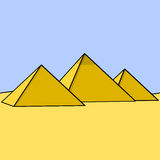 Egyptian pyramids Royalty Free Stock Image