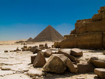 Egyptian Pyramids. The Great Pyramids at Giza, Cairo, Egypt Royalty Free Stock Images