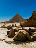 Egyptian Pyramids. The Great Pyramids at Giza, Cairo, Egypt Stock Image