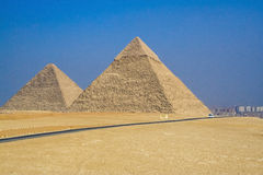 Egyptian pyramids, Ancient civilization. Royalty Free Stock Image