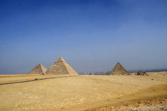 Egyptian pyramids, ancient monuments . Stock Images