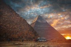 Egyptian pyramids Stock Photos