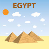 Egyptian Pyramids Flat Design Royalty Free Stock Photo
