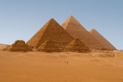 Egyptian pyramids in Giza. Panaromic view of six Egyptian pyramids in Giza, Egypt Royalty Free Stock Image