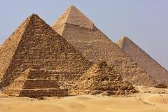 The Egyptian pyramids. The Giza pyramids in Cairo, Egypt Royalty Free Stock Image