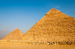 Egyptian Pyramids of the Giza Plateau, Cairo Stock Images