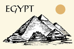 Egyptian pyramids, Great Pyramid of Giza Stock Photography