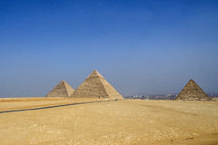 Egyptian pyramids, historical sites. Royalty Free Stock Photography