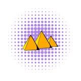 Egyptian pyramids icon, comics style Stock Photos