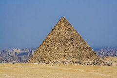 Egyptian pyramids, monuments of humanity. Royalty Free Stock Image