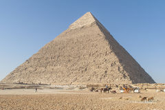 The Egyptian pyramids Stock Image