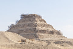 The Egyptian pyramids. On the outskirts of Cairo, Egypt Royalty Free Stock Image