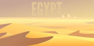 Egyptian pyramids. Sahara desert landscape Stock Image