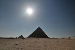 Egyptian pyramids scenic Royalty Free Stock Photos