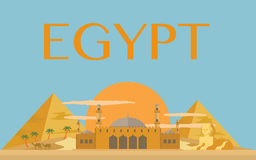 Egyptian pyramids vector. For your ideas Royalty Free Stock Photos