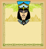 Egyptian queen Cleopatra , frame Royalty Free Stock Image