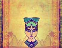 Egyptian queen Cleopatra , frame Stock Photo