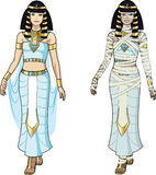Egyptian Queen and female Mummy Stock Photo
