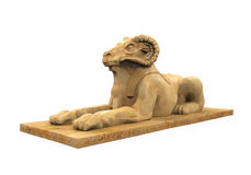 Egyptian Ram Headed Sphinx Statue Stock Image