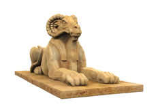 Egyptian Ram Headed Sphinx Statue Royalty Free Stock Images