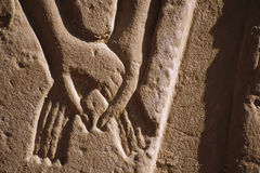 Egyptian Relief. Relief depicts affection in Karnak temple at Thebes, Luxor, Rgypt royalty free stock image