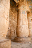 Egyptian reliefs in temple Royalty Free Stock Images