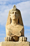 Egyptian representation. Statue that mimics the existing ones of the Egyptian pharaohs Stock Photography