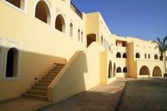Egyptian resort architecture stock photo