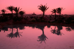 Egyptian resort night Stock Photography