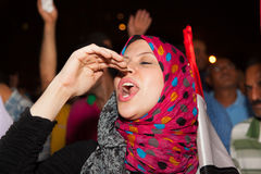 Egyptian revolution Girl Stock Photo