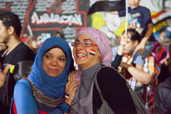 Egyptian revolution Girls Royalty Free Stock Image