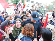 Egyptian revolution 25 January 2014 Stock Photos