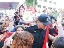 Egyptian revolution 25 January 2014 Stock Images