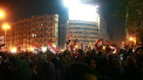 Egyptian revolution 30 June stock video