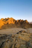 Egyptian rocky desert Royalty Free Stock Photography