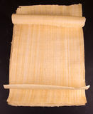 Egyptian roll blank papyrus for message Royalty Free Stock Image