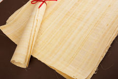 Egyptian roll blank papyrus for message Royalty Free Stock Images