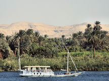 Egyptian sailing boat Stock Photo
