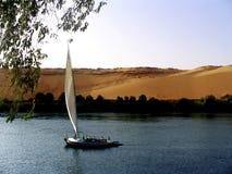 Egyptian sailing boat Royalty Free Stock Photo