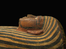 Egyptian  sarcophagus face isolated Stock Photos