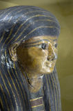 Egyptian sarcophagus head Royalty Free Stock Photo