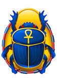 Egyptian scarab. Vector illustration of egyptian scarab Royalty Free Stock Photography