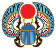 Egyptian scarab beetle. Sacked bug a symbol of the sun in the ancient Egypt Royalty Free Stock Images