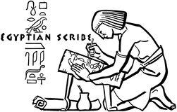 Egyptian Scribe Royalty Free Stock Image
