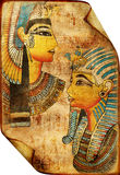 Egyptian scroll. Ancient egyptian scroll with traditional drawings Stock Image