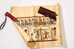 Egyptian scroll isolate Stock Photos