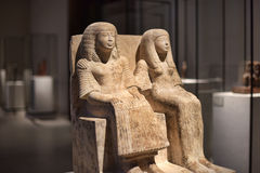 Egyptian sculpture sitting Royalty Free Stock Image
