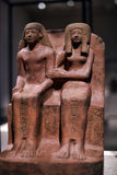 Egyptian sculpture sitting Royalty Free Stock Photography