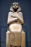 Egyptian sculpture sitting Royalty Free Stock Photos